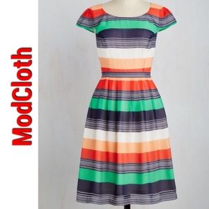 """Modcloth """"Made For Each Color"""" striped dress"""